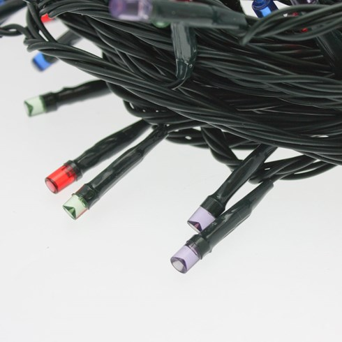 Catena a batteria 50 m, 500 led multicolor