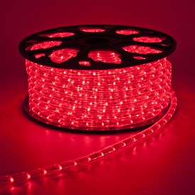 Tube lumineux, 13 mm, 24V, 30 m, led rouge