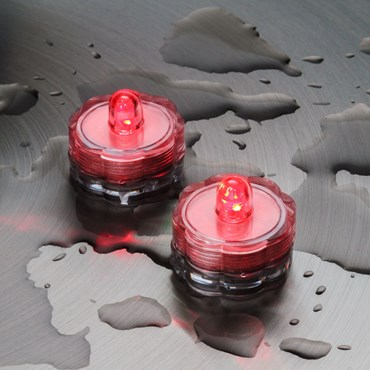 Set 2 Luces Led sumergibles rojo