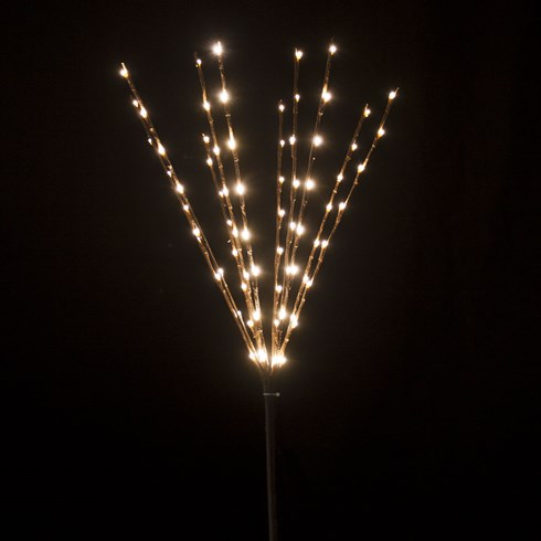 Branche marron, h. 75 cm, 80 LED blanc chaud