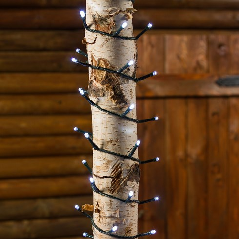 Guirlande 7.5 m, 180 LED blanc froid