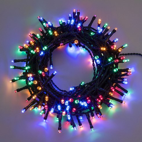 Guirlande 7,5 m, 180 LED multicolor