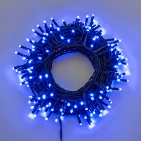 Guirnalda de luces 25,5 m, 360 Mini Led azules, cable verde