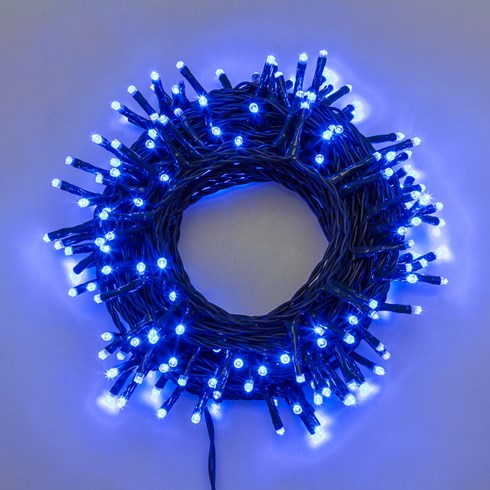 Guirlande 13,1 m, 180 Mini LED bleu