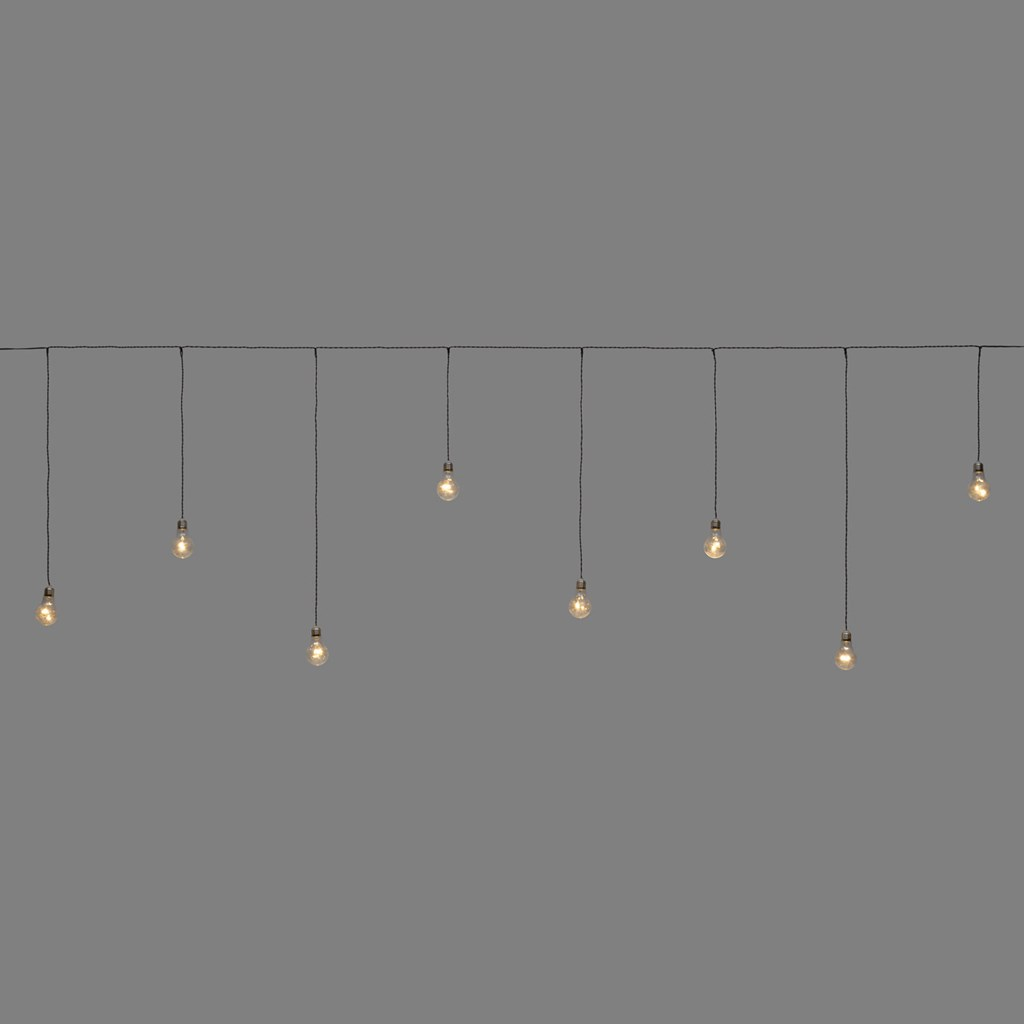 Party-Lichterkette 2,4 x h 0,75 cm, 8 LED-Birnen warmweiß ...