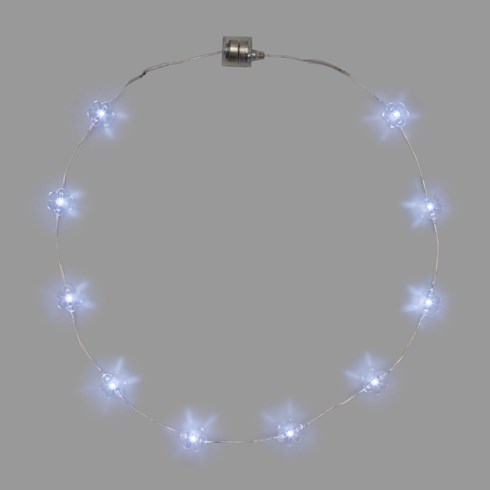 Collier Brilly 10 fleurs led blanc froid