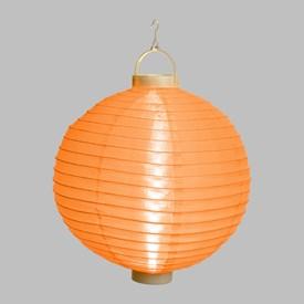 Lanterna luminosa in tessuto arancione, Ø 30 cm, 3 led bianco caldo