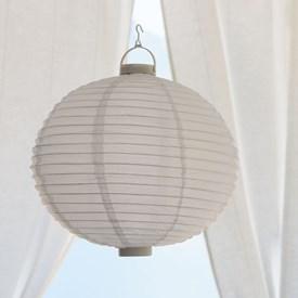 Lanterna luminosa in tessuto bianco, Ø 40 cm, 3 led bianco caldo