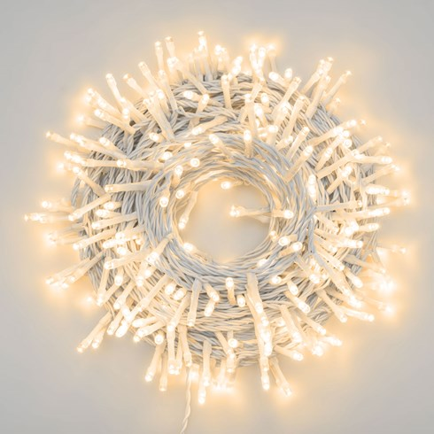 Catena 21,5 m, 300 led bianco caldo ultraluminosi