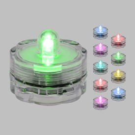 Set 10 Luces Led sumergibles a pilas, RGB multicolor