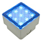 LED-Fliese 0,8W, 80x80 mm, blau