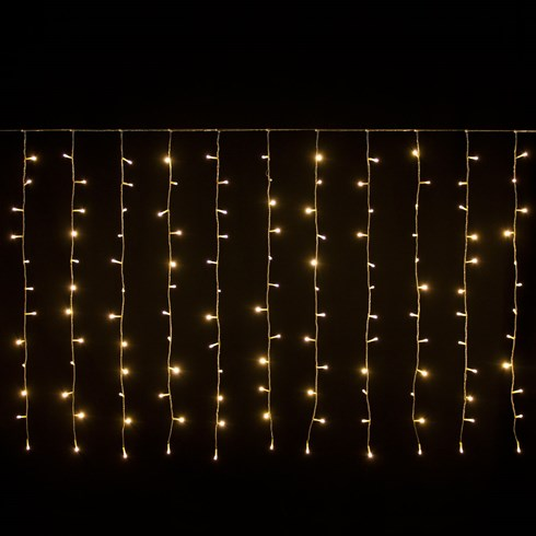 Rideau 2,55 x 1,10 m, 180 LED blanc chaud