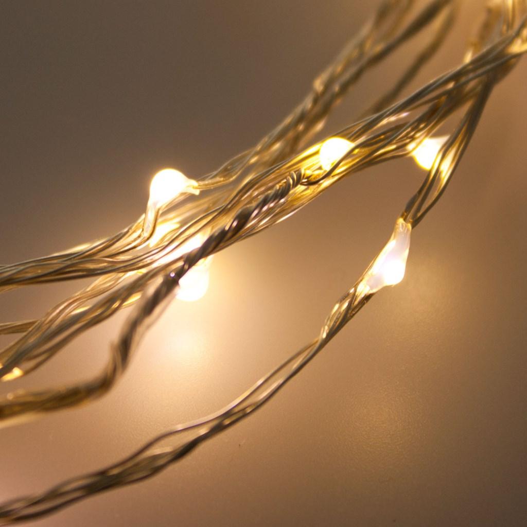 Guirnalda de luces 8 m 80 micro led blanco c lido cable - Guirnalda luces led ...