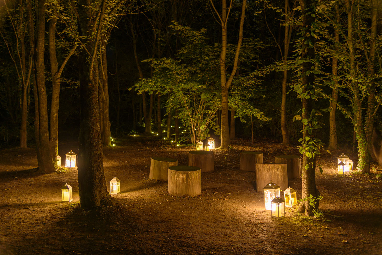 Set di lanterne classiche a forma di bastone da pastore a led