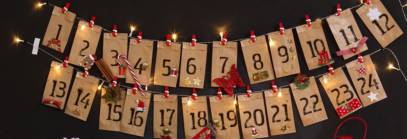 Calendario Solo Numeri.Calendario Avvento Fai Da Te 5 Idee Creative Luminal Park