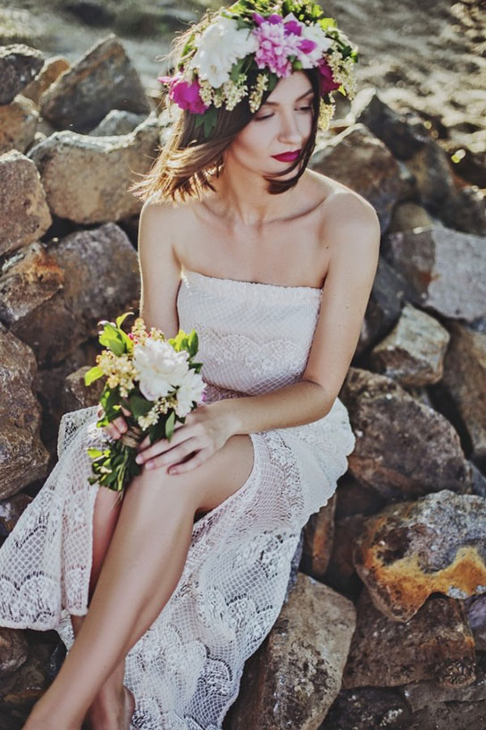 Total look da sposa boho chic