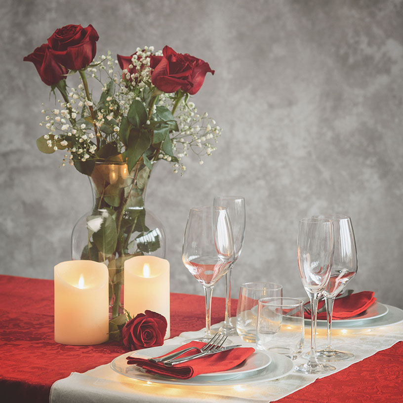 San valentino 7 idee per una cena romantica luminal park - Idee cena romantica a casa ...