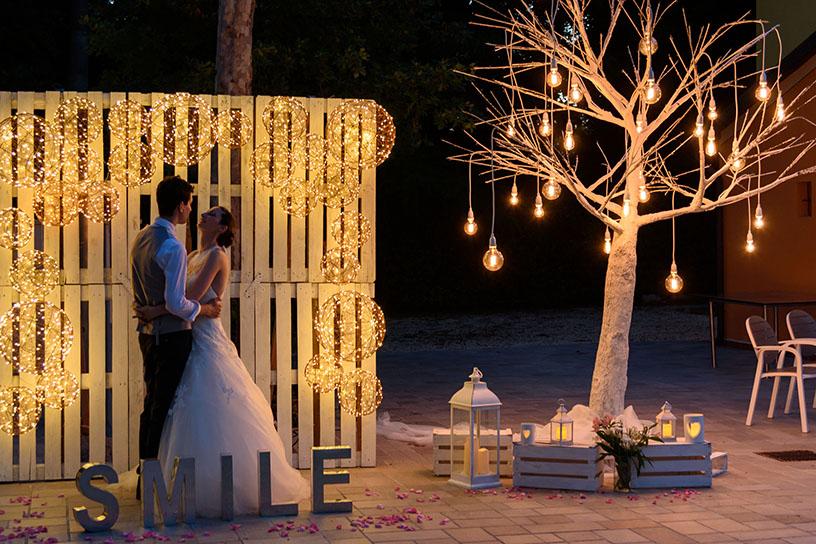 Bombillas decorativas LED boda