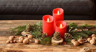 Decorare Candele Di Natale : Centrotavola di natale luminal park