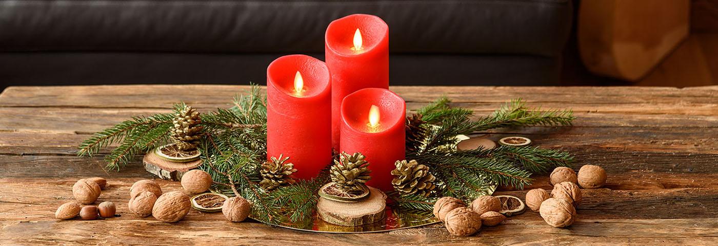 Centrotavola Natalizi Immagini.Come Fare Decorazioni Con Candele Di Natale Luminal Park