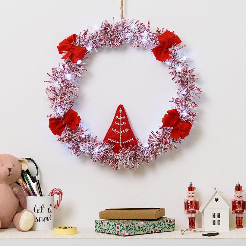 5384bc8aa Cómo hacer una corona de Navidad | Luminal Park