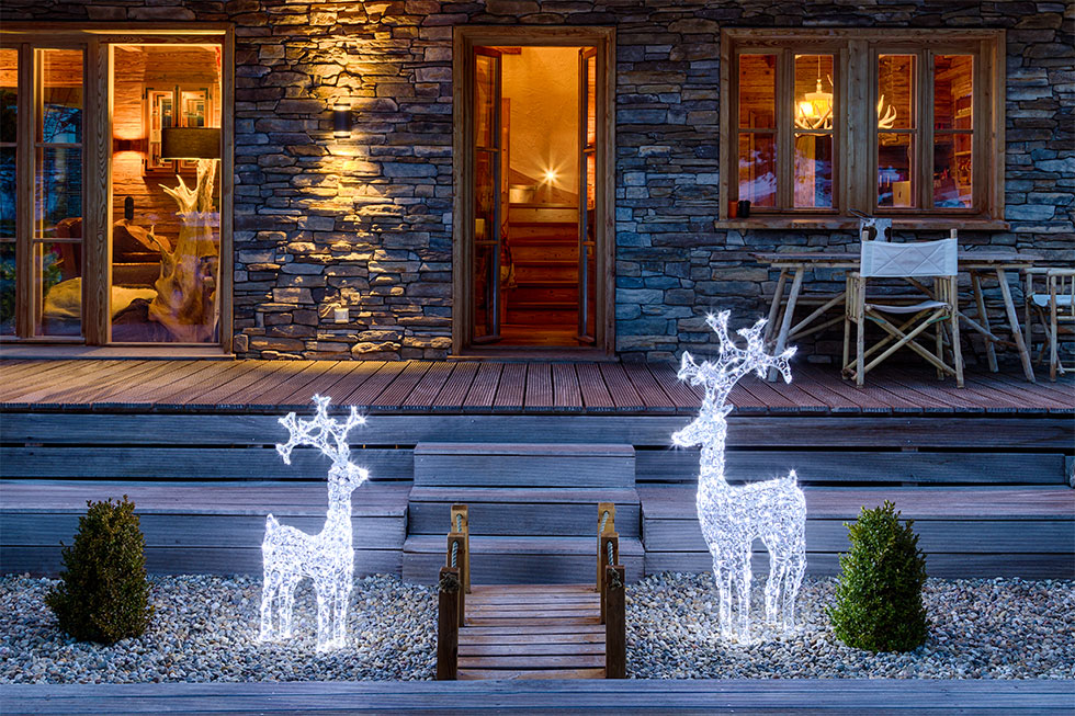 Illuminazione natalizia giardino luminal park - Decorazioni natalizie per giardino ...