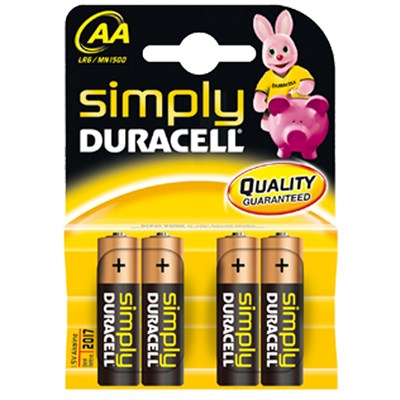 Piles AA Duracell Simply, x 4