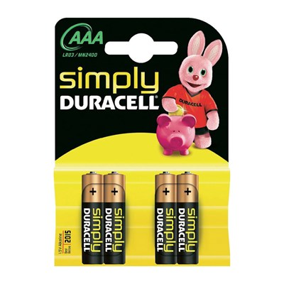 4 batterie AAA Duracell Simply