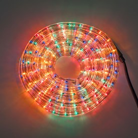 Tube lumineux, 13 mm, 230V, 10 m,ampoules multicolore à incandescence