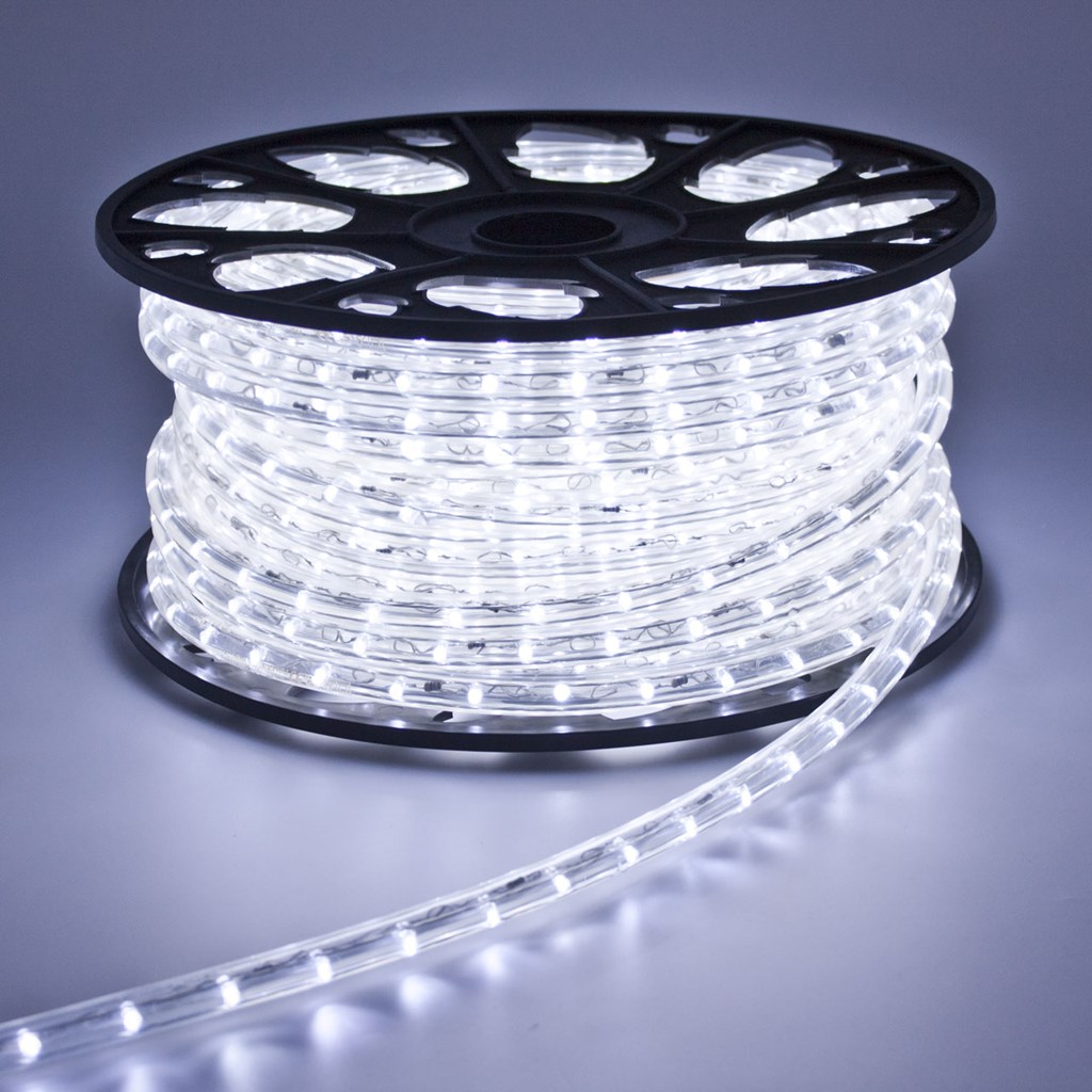 Tube lumineux 13 mm 24v 30 m led blanc froid tube for Luci tubolari a led