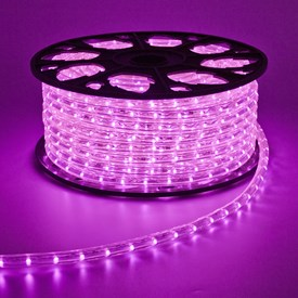 Tube lumineux, 13 mm, 230V, 45 m, LED rose