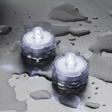 2 Bougies chauffe-plat led à piles, submersibles, led blanc froid