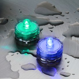 2 candeline tealight sommergibili, led RGB cambiacolore