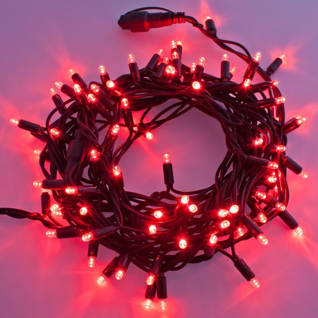 Guirnalda de luces profesionales 10 m 120 maxiled rojo - Guirnalda luces led ...