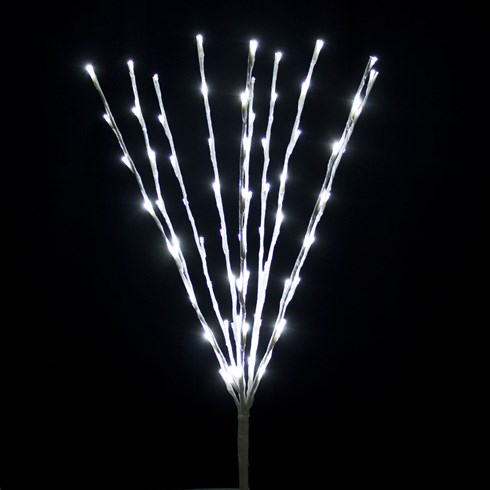 Branche blanche, h. 75 cm, 80 LED blanc froid