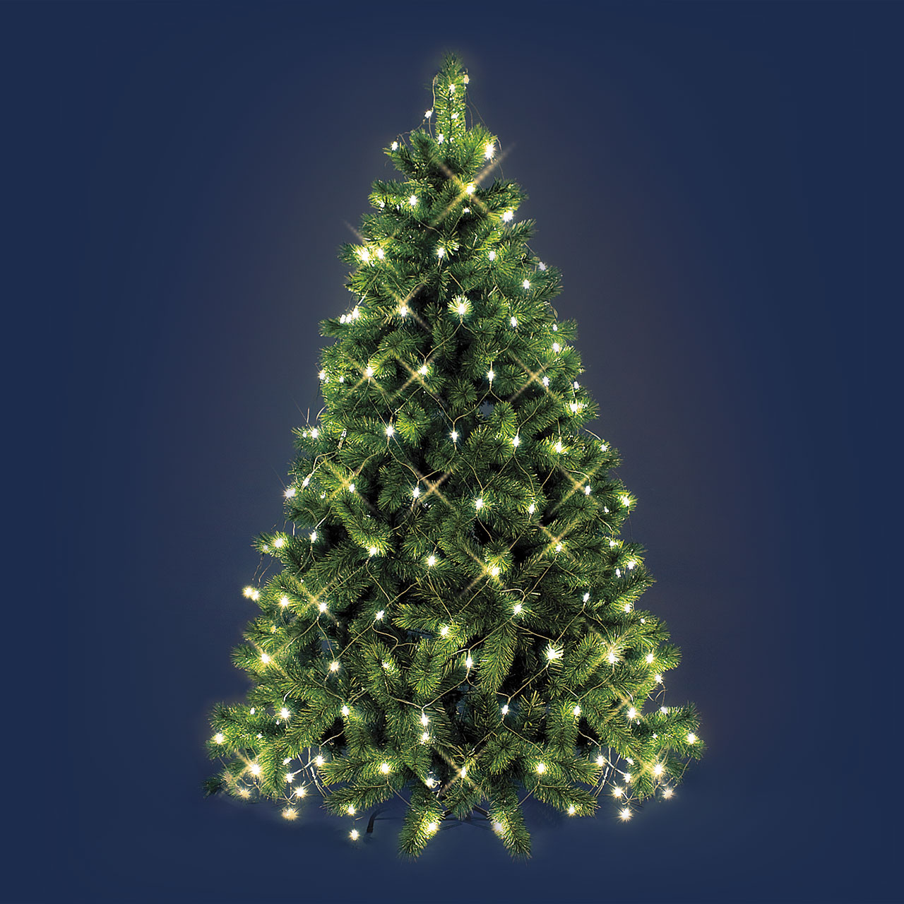Red de luces para rbol de Navidad 38 x h 2 m 195 Led blanco