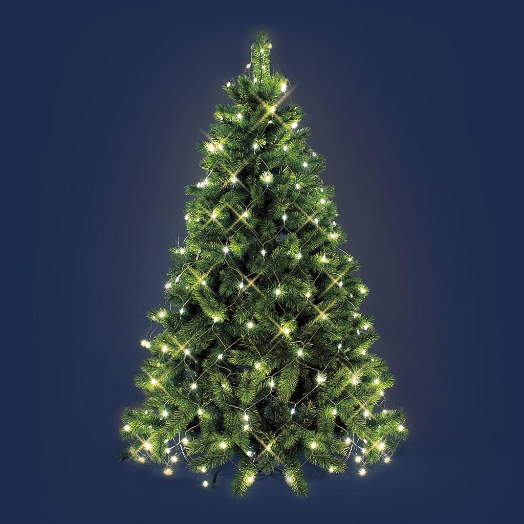 Luci Albero Natale.Mantello Per Albero Di Natale 3 8 X H 2 M Led Bianco Caldo