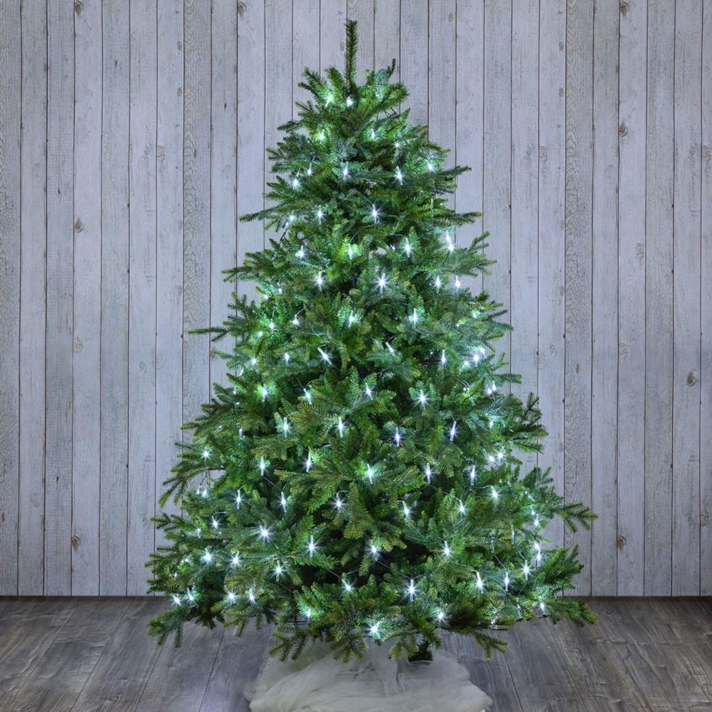 Albero Di Natale Luci Led.Mantello Per Albero Di Natale 3 8 X H 2 M Led Bianco Freddo
