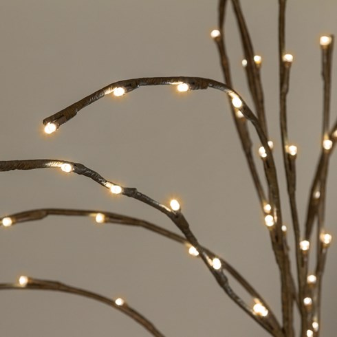 Ramo marrone, h. 100 cm, led bianco caldo
