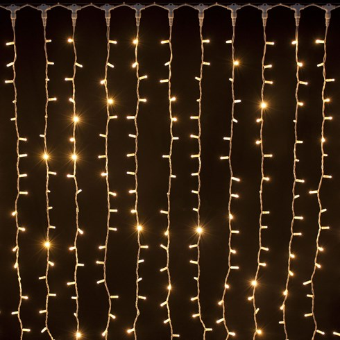 Rideau 2 x 1,5 m, 304 Led blanc chaud
