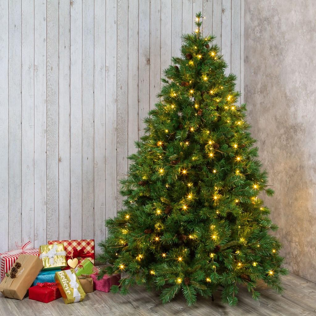 Luci Albero Natale.Tenda Per Albero Di Natale Alto 150 Cm Led Bianco Caldo