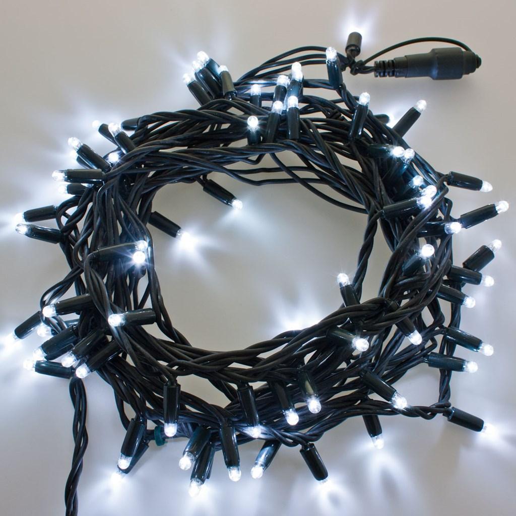 Lichterkette 10 m 96 maxi leds kaltwei schwarzes kabel - Lichterkette ohne kabel ...
