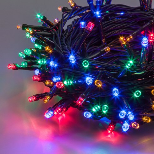 Lichterkette 12,8 m, 320 LEDs multicolor