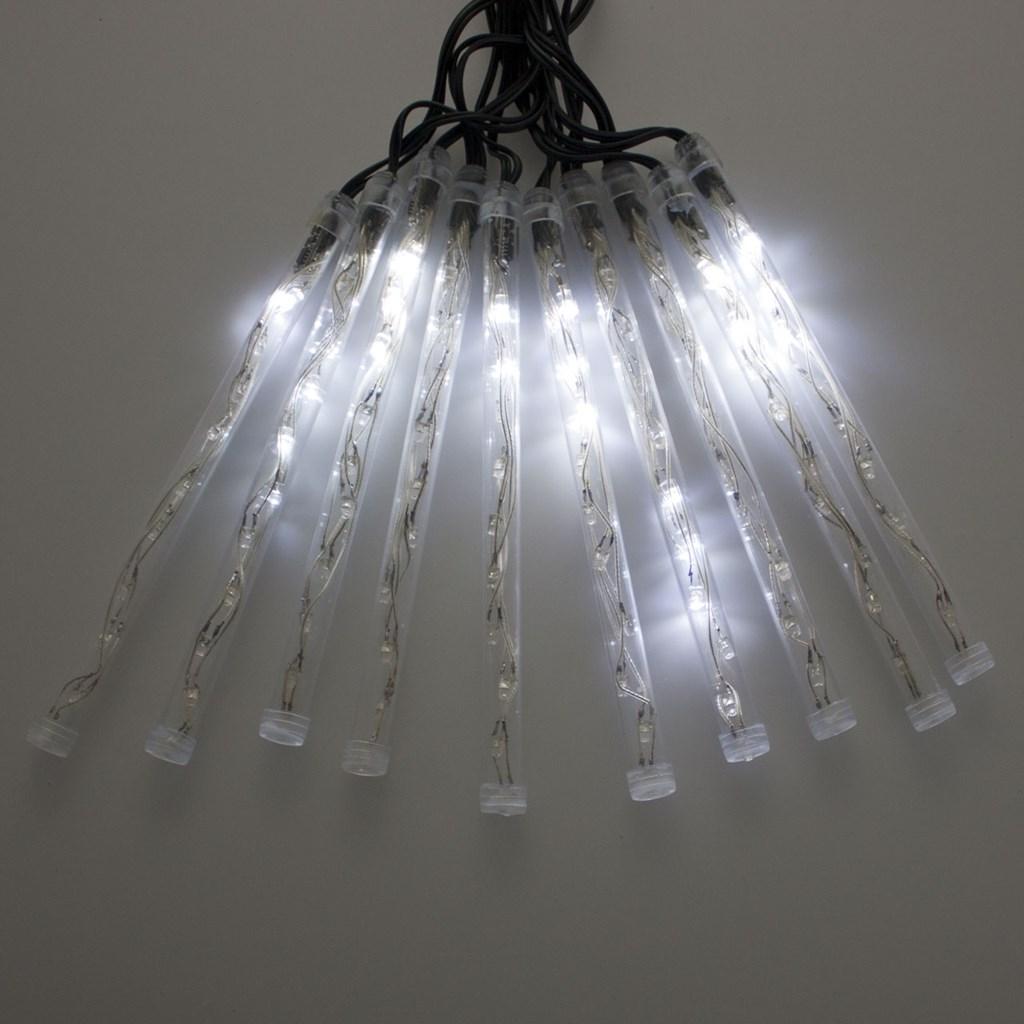 lichterkette 8 m 10 led leuchtst be kaltwei schneefall effekt erweiterbar schneefall lichter. Black Bedroom Furniture Sets. Home Design Ideas