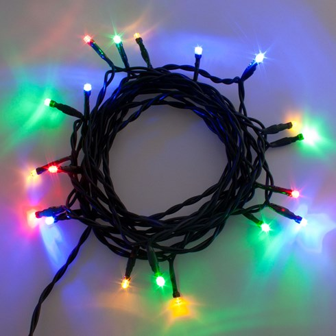 Lichterkette 5 m, 20 LEDs multicolor