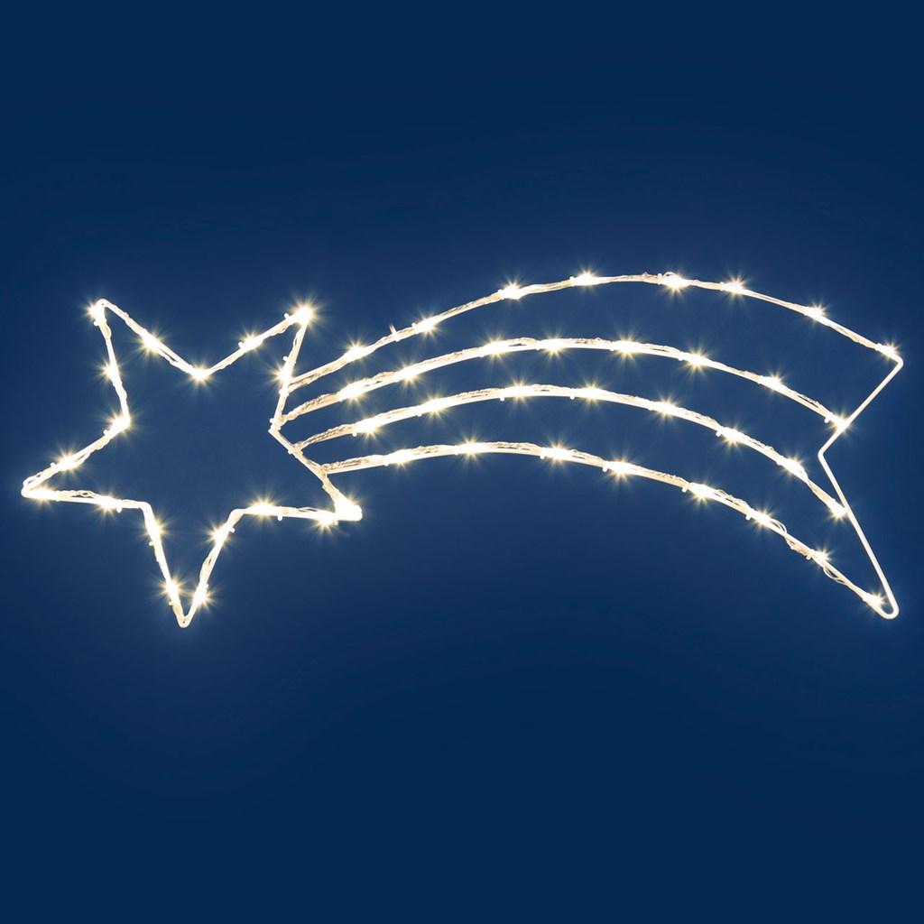 Weihnachtsbeleuchtung Eiszapfen Lauflicht.Kometstern Mit Lauflicht 85 X H 33 Cm 50 Leds Warmweiß