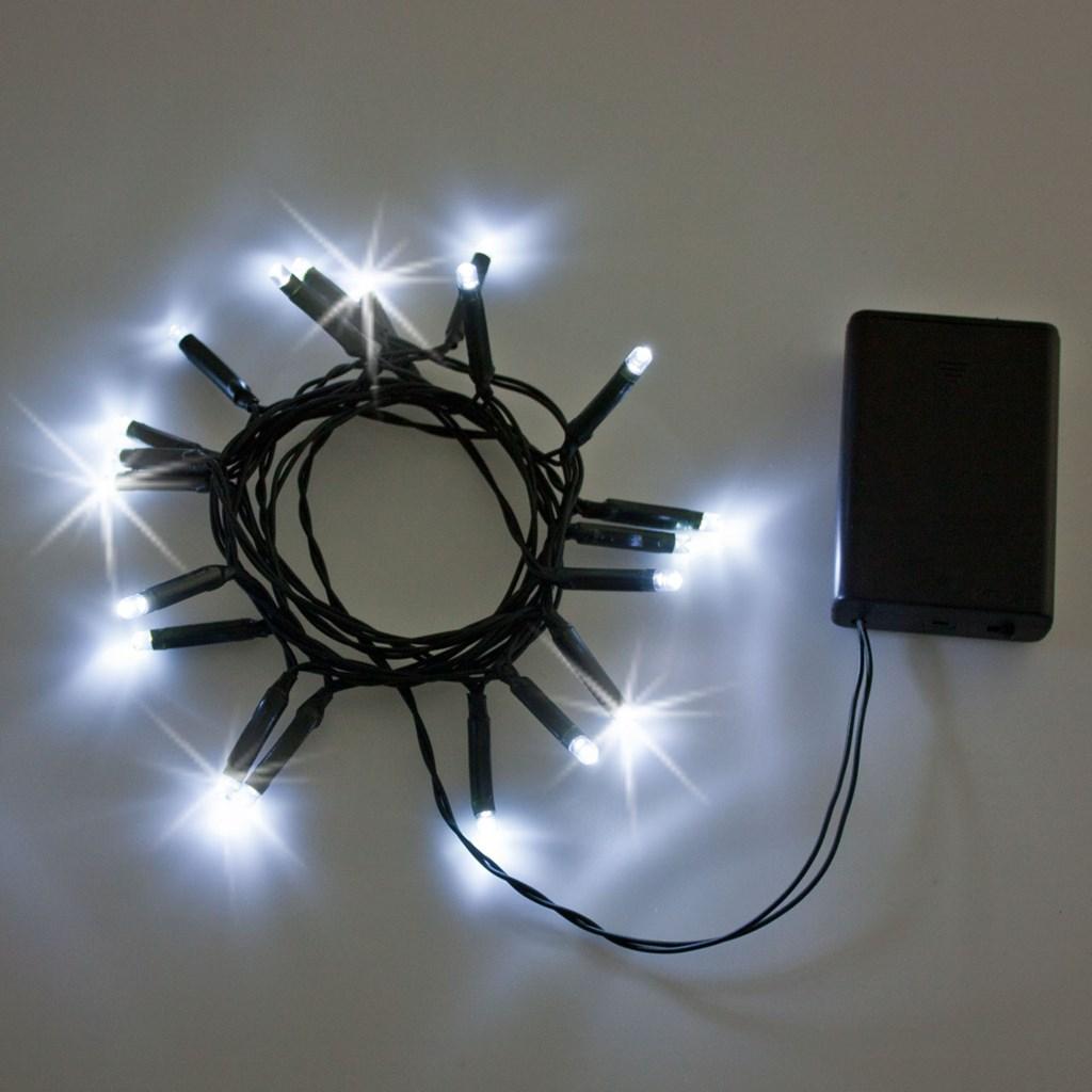 c8dc4906eca Set de 2 Guirnaldas de luces a pilas 2 m