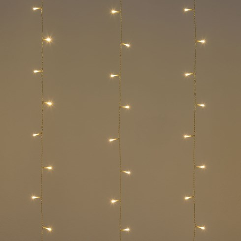 Rideau 3 x 1,52 m, 182 LED blanc chaud