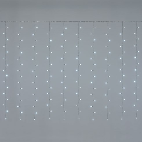 Rideau 5 x 1,5 m 384 LED blanc froid