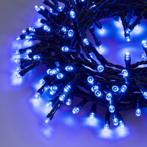 Catena 7,5 m, 180 led blu